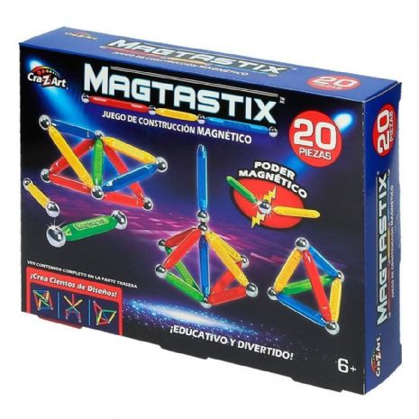 Magtastix 20 PIECE BUILDING Set -  3D MAGNETIC CONSTRUCTION - NEW